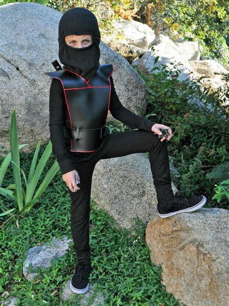 pattern for a ninja costume easy diy ninja costume for kids hgtv