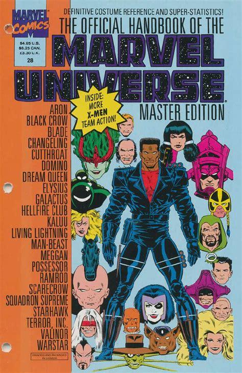 Master Vol 6 1 official handbook of the marvel universe master edition vol 1 28 marvel database fandom