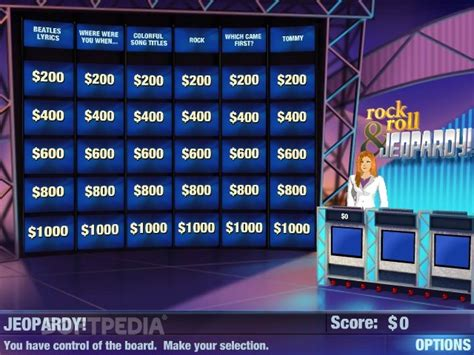 Jeopardy Sweepstakes - rock and roll jeopardy download