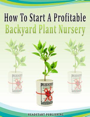 backyard business how to start a profitable backyard plant nursery profitable plants