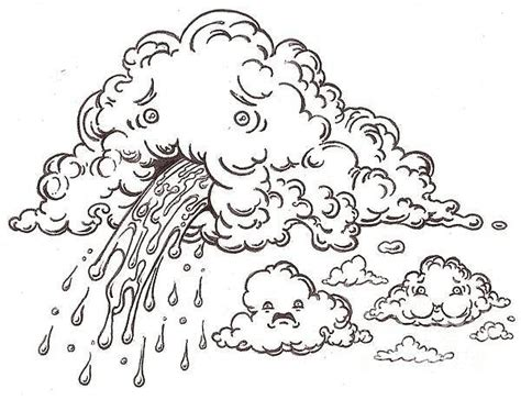 the contagious puking cloud drawing by jordan montgomery