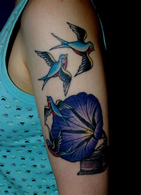 morning glory tattoo blue morning www pixshark images