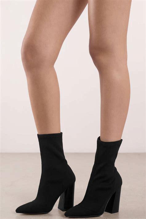 Sock Booties by Black Knit Sock Booties 70 Tobi Us