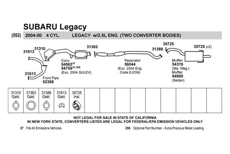 2002 subaru forester exhaust diagram 2000 subaru exhaust diagram 2000 free engine image for