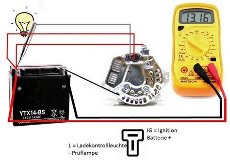 Motorrad Batterie Defekt by Motorrad Lichtmaschine Pr 252 Fen Automobil Bau Auto Systeme