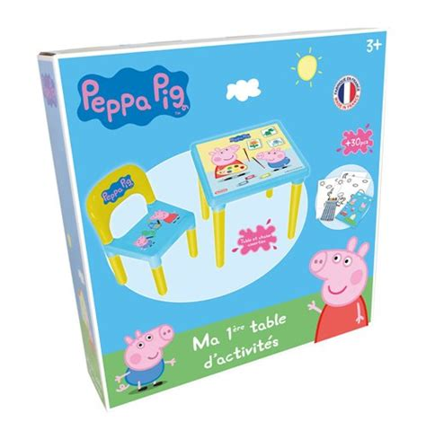 Peppa Pig Table by Peppa Pig Activity Table Chair Set With 30pc