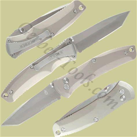 Gerber Venture Assisted Opening Clip Folder Titanium Handle Knife 31 gerber venture fast tanto knife 30 000405