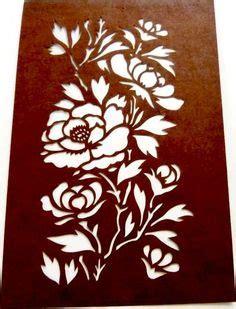 Kz08 Stencil Flower D Stensil Cetakancraft Scrapbooking collectors vintage japanese cutout paper stencil flowers plants leaves artistic item for