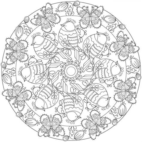 download spring mandala coloring page sting