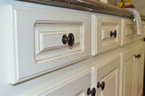 Glazing Painted Kitchen Cabinets Painted Kitchen Cabinets At Home With The Barkers