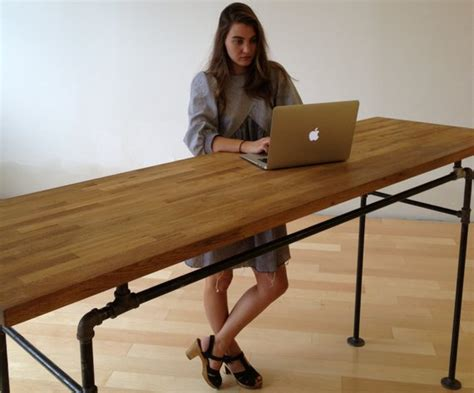 Pipe Standing Desk by Custom Listing For Ari