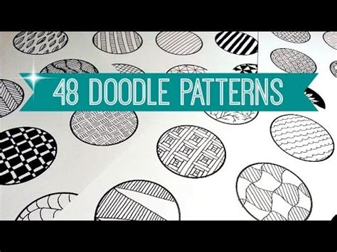 doodle patterns youtube 48 easy doodle patterns zentangle mandala sollomio