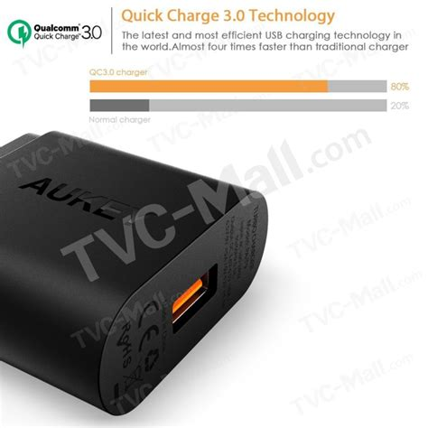 Aukey Charger 18w Pa T9c by Aukey Pa T9 18w Usb Wall Charger Support Qualcomm