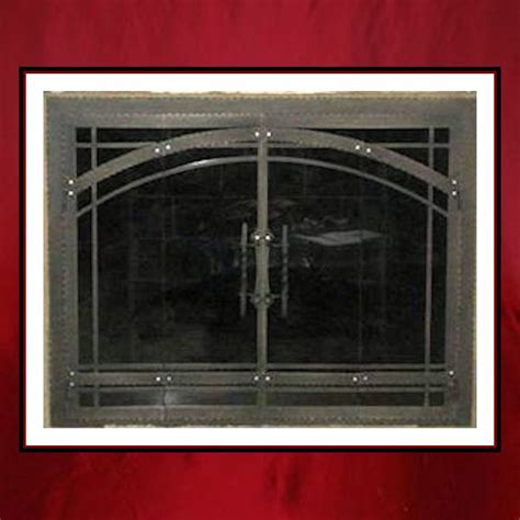 craftsman style fireplace door northshore