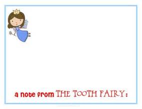 tooth stationery template a note from the tooth