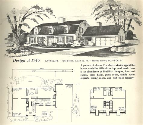 gambrel roof house floor plans vintage home plans gambrel 1745 antique alter ego