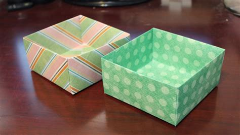 How To Make A Paper Box With Lid - how to make an origami box out of scrapbook paper craftcore