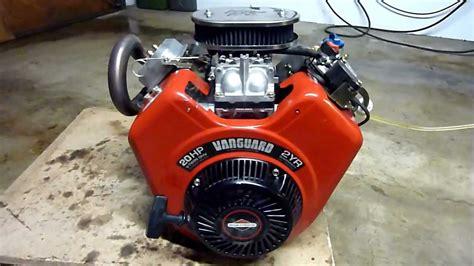 briggsstratton vanguard ccm hp  twin race kart  doovi