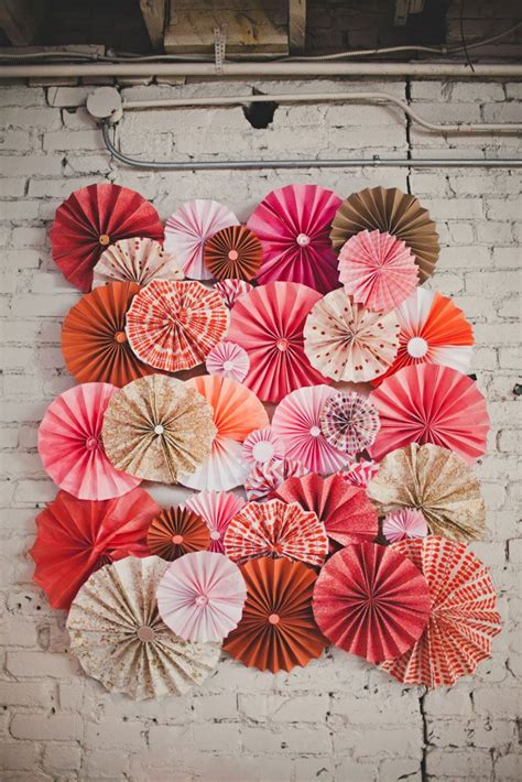 Handmade Pinwheels - diy paper pinwheel wall from our wedding handmade with