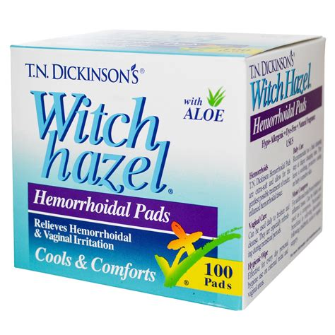 witch hazel for dogs dickinson brands t n dickinson s witch hazel hemorrhoidal pads with aloe 100 pads