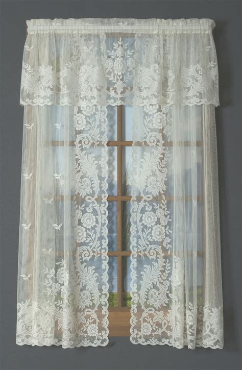 tailored curtains irish point lace tailored curtain pair clearance