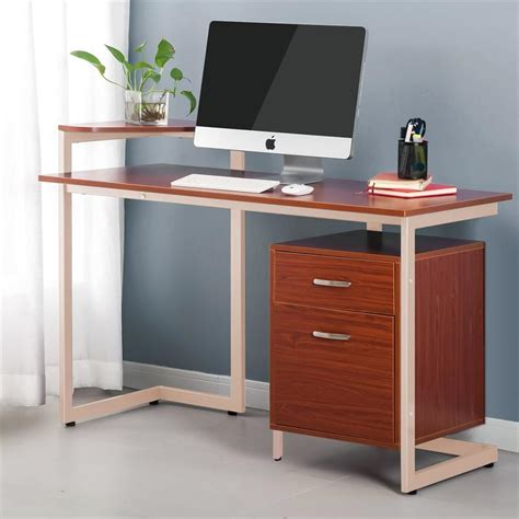 Laptop Desk With Drawers Office Desk With Two Drawers Computer Pc Laptop Writing Desk Table Workstation W Two Drawers