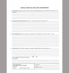 mental health assessment template behavioral health templates images