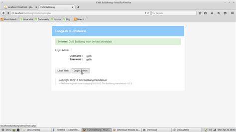 membuat database web sekolah membuat website sekolah menggunakan cms balitbang pada