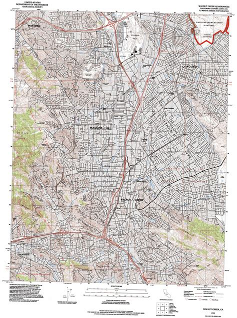 map of walnut california walnut creek topographic map ca usgs topo 37122h1