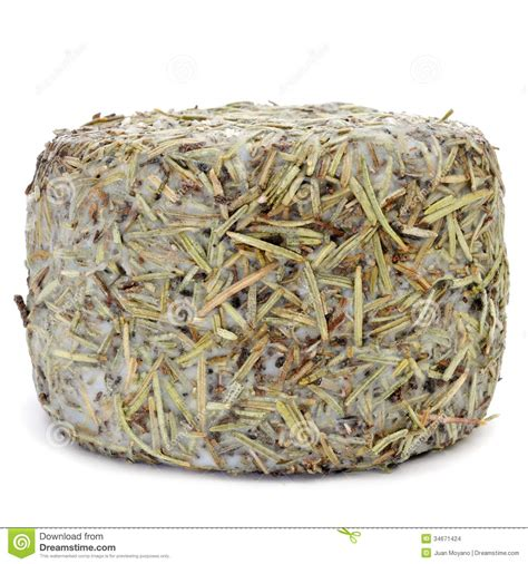 Handmade Cheese - handmade rosemary coated cheese from spain stock images