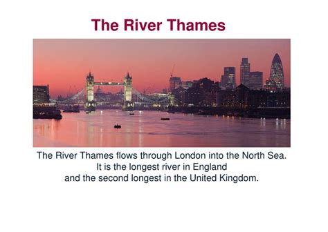 thames river flows into ppt london in pictures from wikipedia lesson 1 welcome