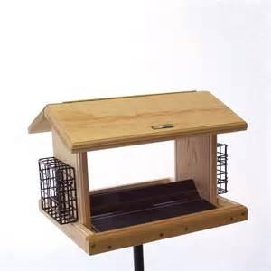 Hopper Bird Feeders Shop Birds Choice Cedar 11 Quart Hopper Bird Feeder At
