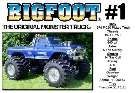 bigfoot trucks bigfoot 1 171 bigfoot 4 215 4 inc truck racing team