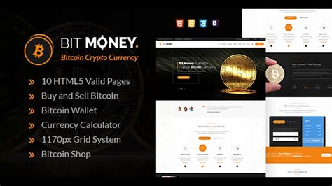 Bit Money Bitcoin Cryptocurrency Html Template Themeforest Website Templates And Themes Cryptocurrency Html Template Free