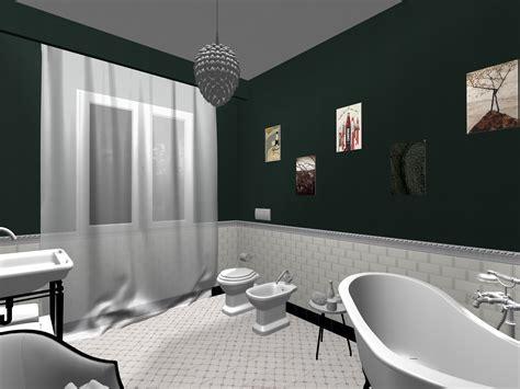 pittura piastrelle bagno bagno realizzato in stile retro chic piastrelle da