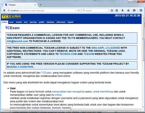 membuat database ujian online kang alim cara installasi tcexam di windows