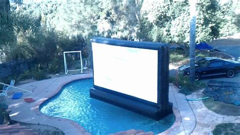inflatable backyard movie screen floating outdoor inflatable movie screen in my pool