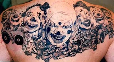 clown face tattoo designs clown tattoos info