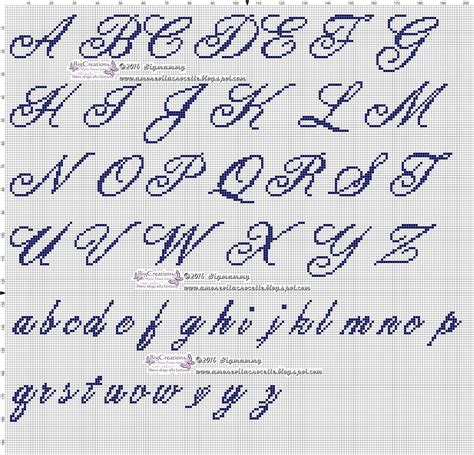 lettere punto croce corsivo alfabeto alfabeti alfabeto punto croce e