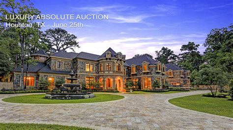 mansions for sale luxury houston texas mansion for sale by absolute auction