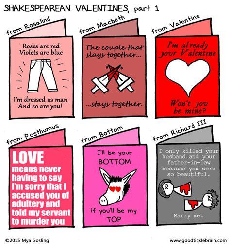 shakespeare valentines shakespearean valentines part 1 tickle brain a