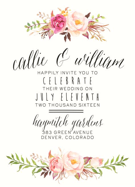 Wedding Invitations Floral by Watercolor Floral Wedding Invitation By Splashofsilver