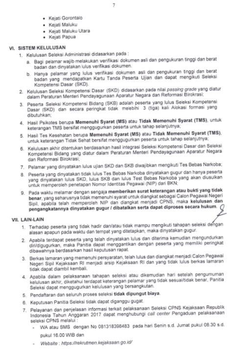 Surat Pernyataan Cpns Kejaksaan Agung by Rekrutmen Cpns Kejaksaan Agung Ri Tahun 2017