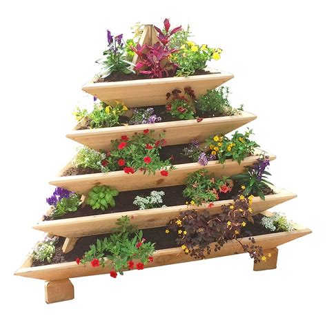 pyramid garden planter plans plans diy free built