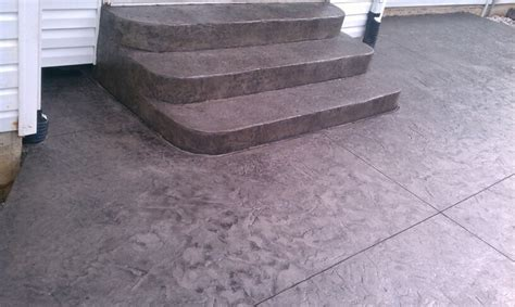 Concrete Patio St by Sted Concrete Patio And Rounded Concrete Steps By T H