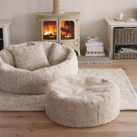 big white fluffy bean bag fluffy bean bag chair and ottoman sof 225 s y chais