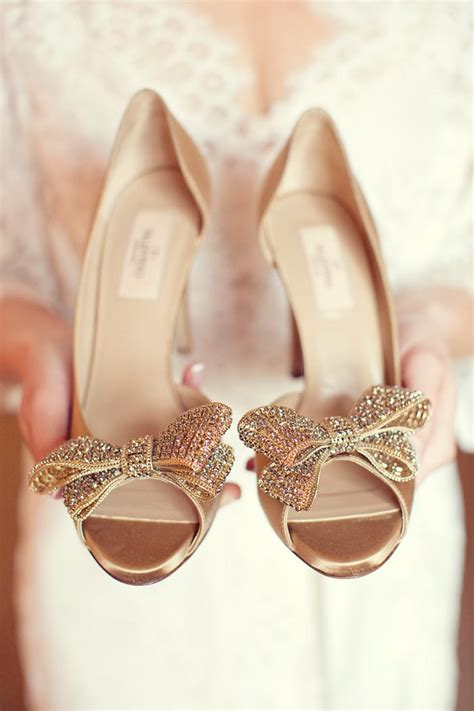 Designer Gold Wedding Shoes by Wedding Inspiration Coral Pretty Happy