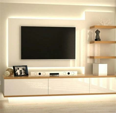 sleek tv unit design for living room s wall decal