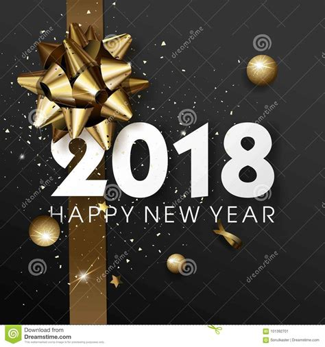 new year ae template happy new year 2018 greeting card or poster template flyer