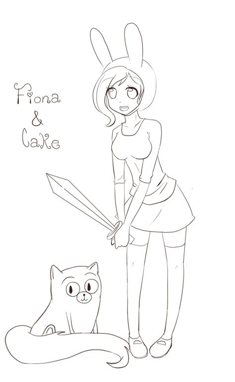 adventure time coloring pages fionna and cake adventure time coloring pages fionna www imgkid com